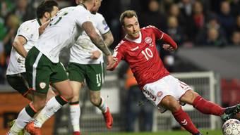 Im Playoff-Hinspiel zwischen Dänemark und Irland in Kopenhagen fielen keine Tore