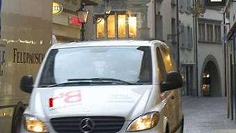 Lieferwagen befahren Schweizer Städte