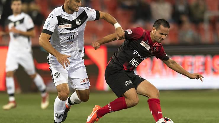 Raphaël Nuzzolo (rechts) bekamen die Luganesi um Miroslav Covilo nicht in den Griff