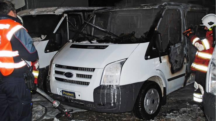 In Biel brannte es in einer Stunde zweimal. (Bilder: newspictures)