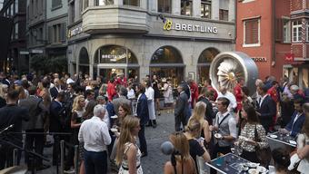 Die Grenchner Uhrenmarke Breitling hat ihre Boutique in Zürich wiedereröffnet