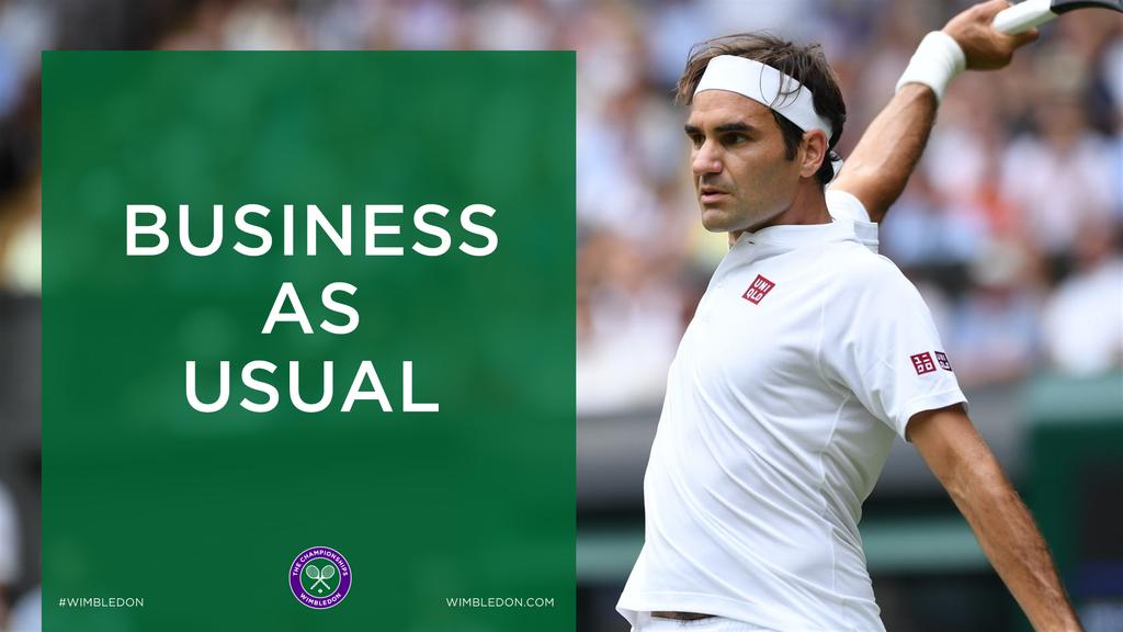 Wimbledon: Roger Federer eine Runde weiter