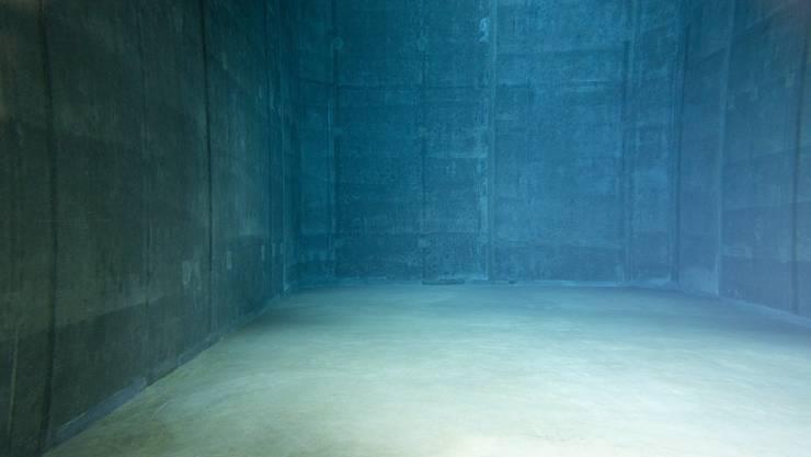 Blick ins Innere: 600 Kubikmeter Wasser stehen insgesamt in den zwei Kammern zur Verfügung.