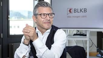 Das Symbol für die angestrebten Veränderungen des BLKB-Chefs ist das neue Logo mit der Sprechblase. (Archivbild)