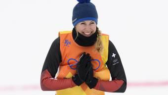 Überglücklich mit ihrer Bronzemedaillle im Skicross: Fanny Smith