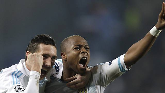 Schoss Marseille ins Glück: André Ayew (rechts)