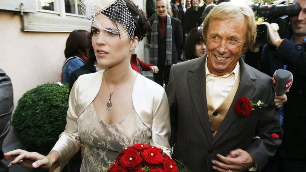 Claus Theo Gärtner - hier bei der Vermählung mit seiner Schweizer Frau Sarah Würgler - gibt noch einmal ein Gastspiel als Matula, vielleicht sogar zwei (Archiv 2008)