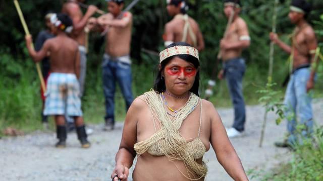 Spezialisiert auf die Jagd im Urwald: Huaroani-Stamm (Symbolbild)