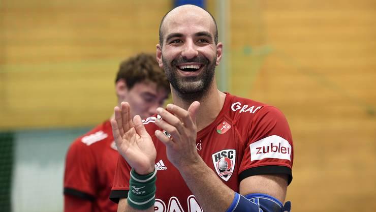 Der portugiesische Linkshänder João Ferraz verlängert seinen Vertrag beim HSC Suhr Aarau um drei Jahre bis 2023.