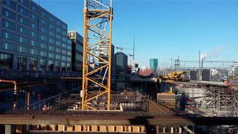 Grossbaustelle Europaallee: Von der Schweizer Gesellschaft für Nachhaltige Immobilienwirtschaft mehrfach ausgezeichnet.mts