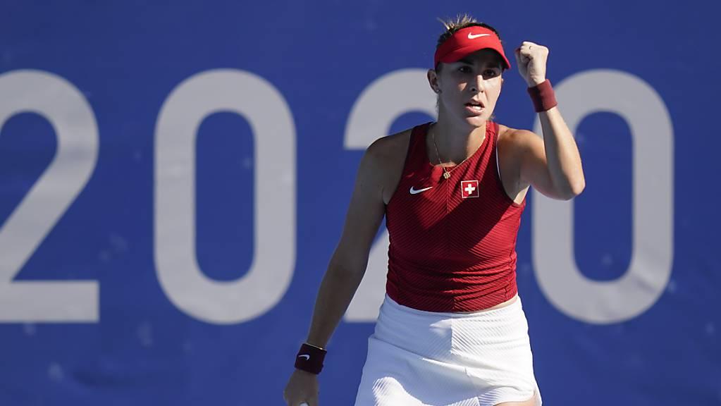 Belinda Bencic bestreitet zuerst ihen Halbfinal im Einzel...