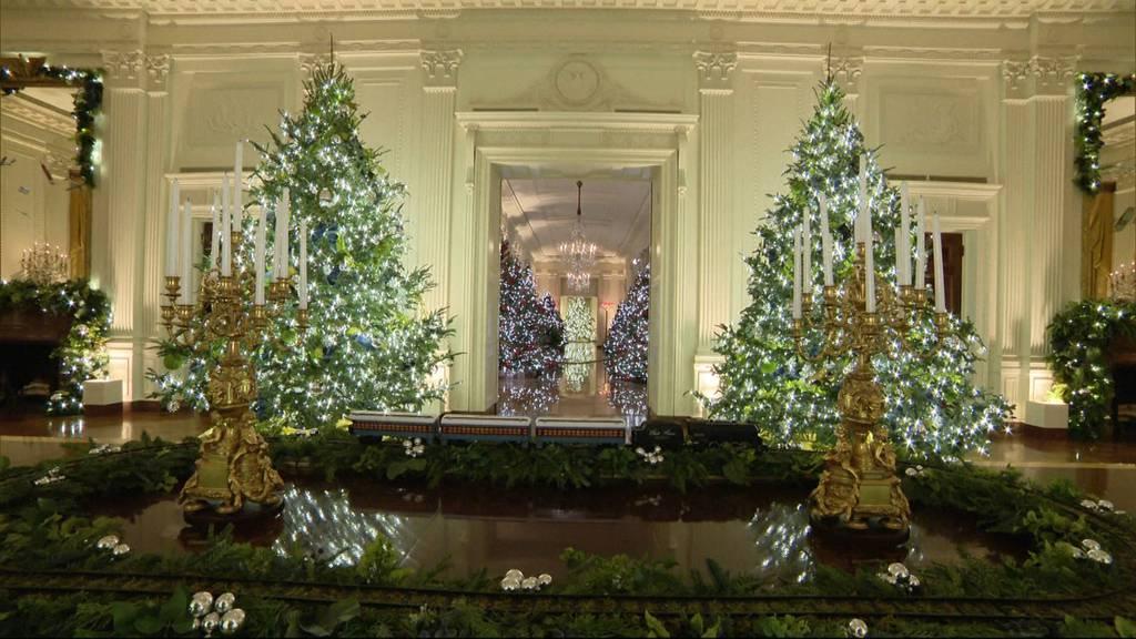 62 Weihnachtsbäume und Tausende Lichter: So schön glitzert es im Weissen Haus