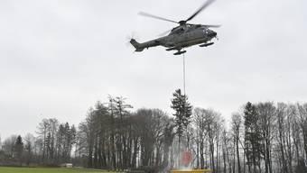 Feuerwehrübung LePiMe mit der Armee in Meinisberg