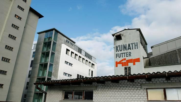 Aussenaufnahme Gebäude KiFF Fabrikpalast Aarau;