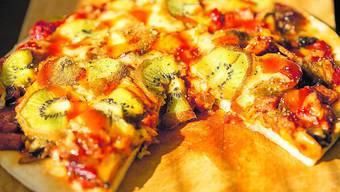 Fein oder eklig? An der Kiwi-Pizza scheiden sich die Geister.