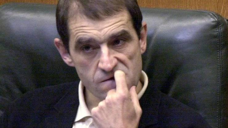 Eine Aufnahme von Josu Ternera im baskischen Regionalparlament 2001. (Archivbild) Er wurde am Donnerstag nach 17 Jahren auf der Flucht in Frankreich gefasst.