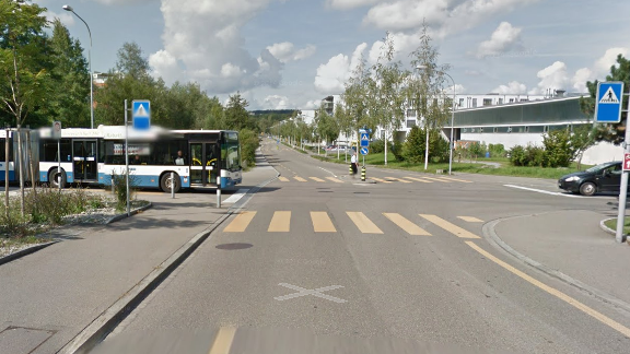Hier an der Verzweigung Neunbrunnenstrasse und Birchstrasse kam es zur Auseinandersetzung.