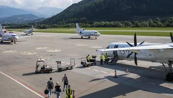 Die Linke will den Flughafen Lugano-Agno nicht mehr weiterbetreiben und hat das Referendum gegen drei Kredite ergriffen. (Archivbild)
