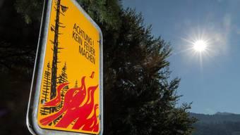 Mit den hohen Temperaturen steigt die Waldbrandgefahr. (Symbolbild)