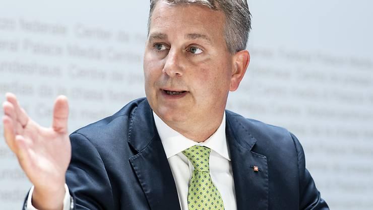 Nach dem Willen der Parteileitung soll er die SVP präsidieren: Der Tessiner Ständerat Marco Chiesa. (Archivbild)
