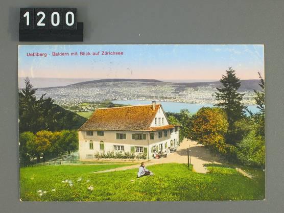 Postkarte des Vorgängers der Baldern an selber Stelle.