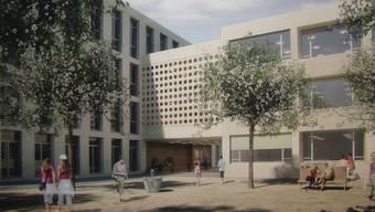 So soll das künftige Schulhaus Zehntenhof aussehen.