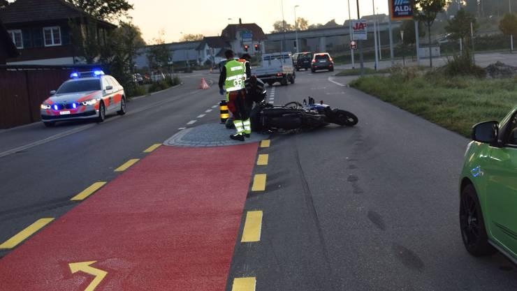 Am Mittwochmorgen kam es auf der Bürenstrasse in Biberist zum Unfall.