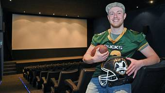 Dominik Holzherr organisiert zum ersten Mal mit den Solothurn Ducks eine Super Bowl Party.