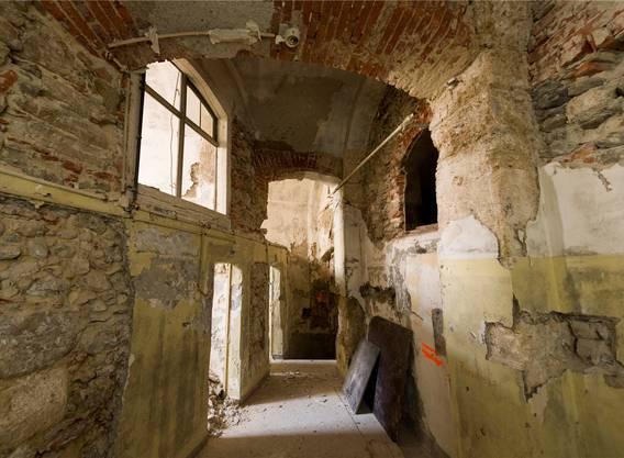 Hier ein Blick in das Kellergewölbe.