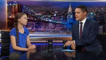 Greta Thunberg bei Trevor Noah.