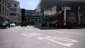 Am oberen Bahnhofplatz herrscht heute schon Tempo 20.