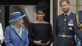 Meghan wird am Treffen von Queen Elizabeth II und Prinz Harry telefonisch dabei sein. (Archiv)