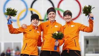 Die Holländer sahnen bei den Olympischen Spielen in Sotschi beim Eisschnelllauf kräftig ab
