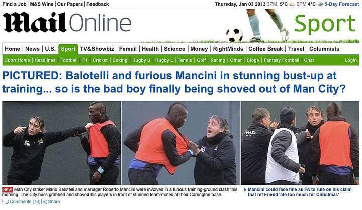 Die «Daily Mail» präsentiert die Bilder des Infights