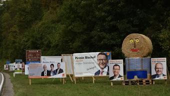 Plakatdschungel in der Region Solothurn