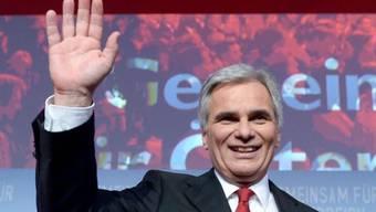 Bundeskanzler Werner Faymann bei der Wahlfeier der SPÖ