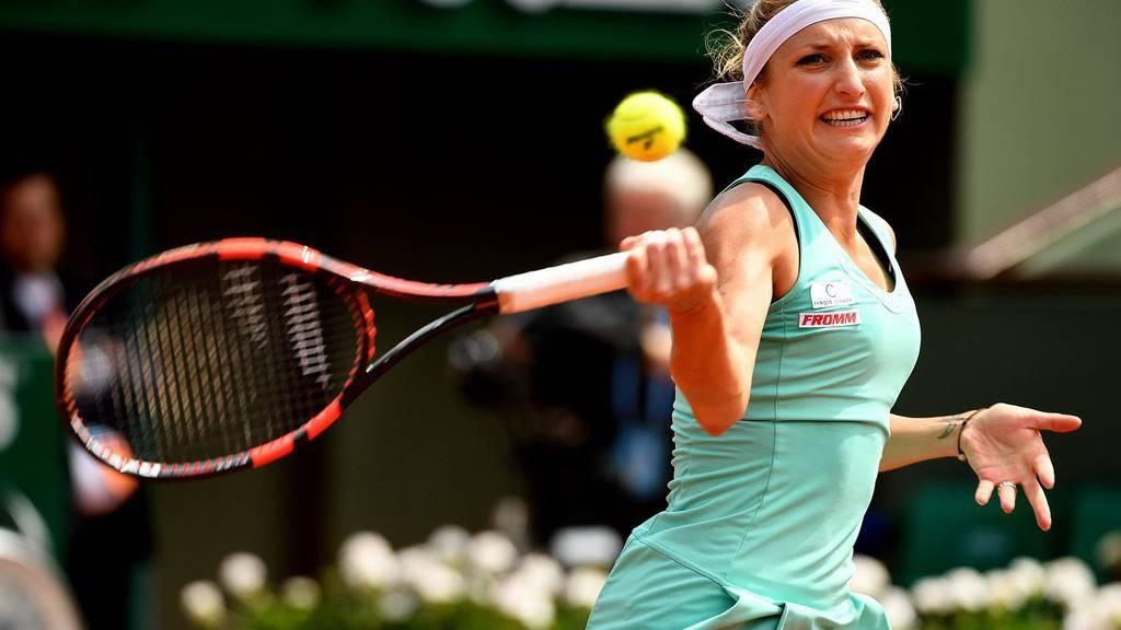 Timea Bacsinszky an den French Open 2016.