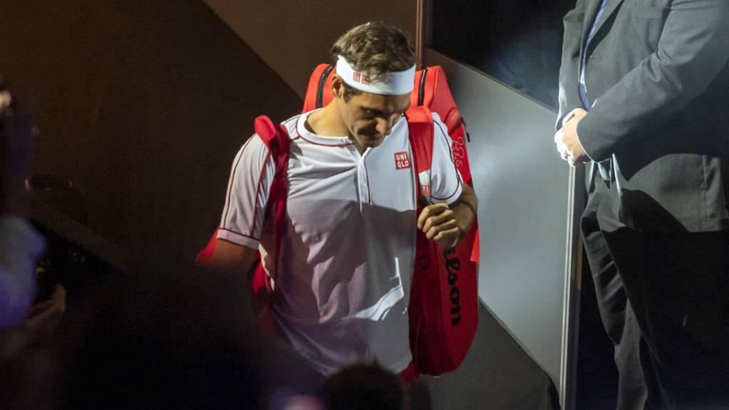 An den Swiss Indoors immer im Fokus und (fast) immer siegreich: Gegen Radu Albot gewann Roger Federer seine 22. Partie in Folge in Basel