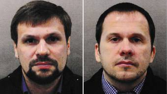 epa06998302 An undated combo handout photo made available by the British London Metropolitan Police (MPS) showing Alexander Petrov (R) and Ruslan Boshirov (L). The MPS reported on 05 September 2018 that they have charged two suspects – both Russian nationals, Alexander Petrov and Ruslan Boshirov, - in relation to the attack on Sergei Skripal and his daughter Yulia who were found unconscious on a bench in Salisbury city centre southern England, on 04 March 2018, after being poisoned by a Novichok nerve agent. The MPS state that, 'We now have sufficient evidence to bring charges in relation to the attack on Sergei and Yulia Skripal in Salisbury and domestic and European arrest warrants have been issued for the two suspects. We are also seeking to circulate Interpol Red Notices.' EPA/LONDON METROPOLITAN POLICE / HANDOUT HANDOUT EDITORIAL USE ONLY/NO SALES