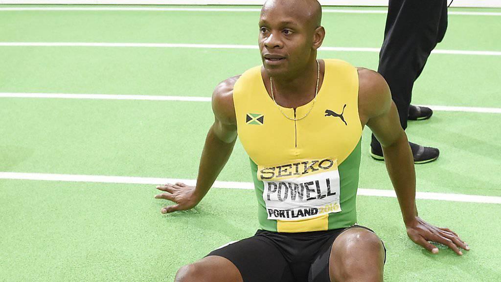 Asafa Powell musste sich mit WM-Silber begnügen