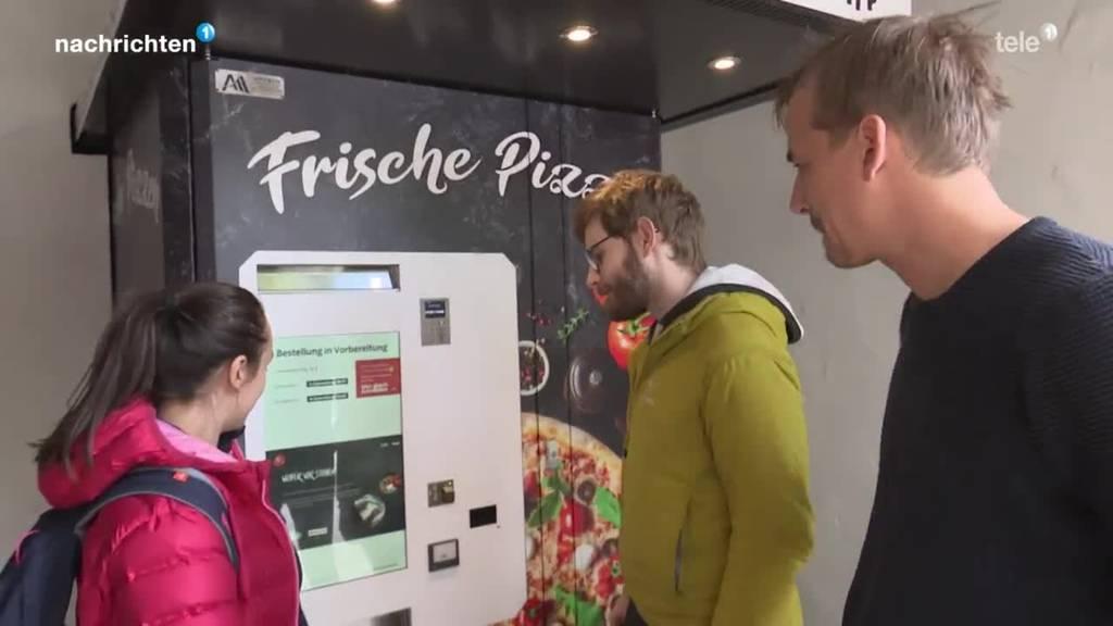 In Luzern gibt es einen 24/7 Pizza-Roboter