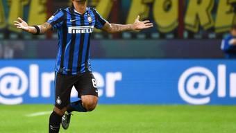 Inters brasilianischer Mittelfeldspieler Felipe Melo, der Torschütze zum 1:0 gegen Hellas Verona