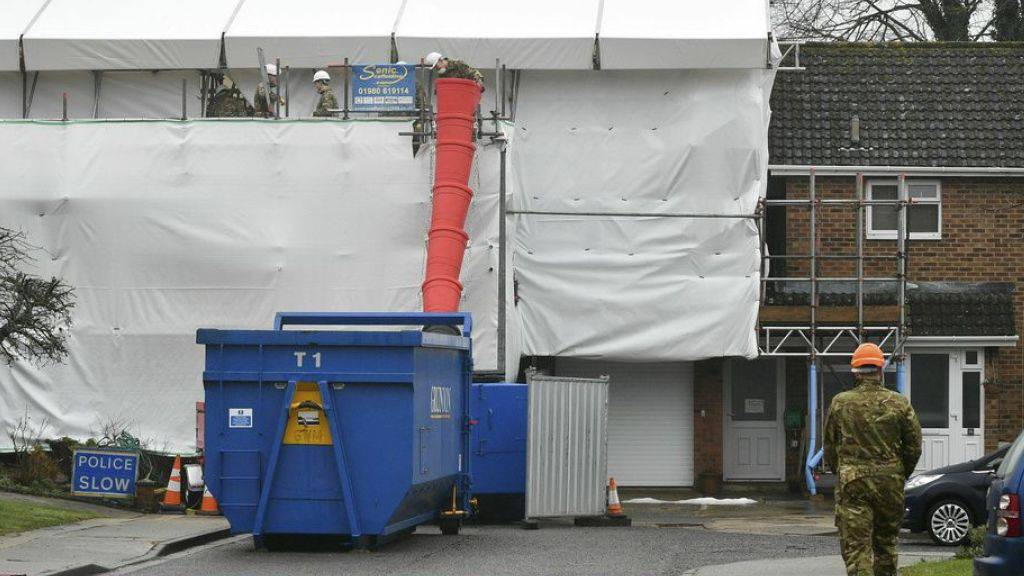 Die Dekontaminierung des Hauses des früheren Spions Sergej Skripal dauerte mehrere Monate. (Archivbild)