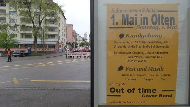 1.-Mai-Kundgebung in Olten