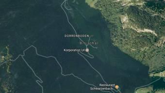 Im Gebiet der Ruosalp, die der Korporation Uri gehört, stürzte ein Fels zu Tal und verschüttete drei Menschen - eine konnte sich in der Zwischenzeit befreien. (Bild googlemaps)