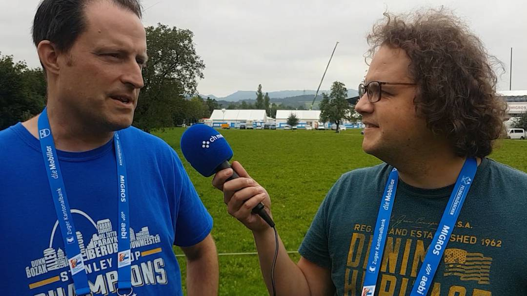 Aus Zug: Die Sportredaktoren Marcel Kuchta (links) und Martin Probst mit einer ersten sportlichen Einschätzung vor dem Start des Eidgenössischen Schwingfests