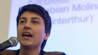 Der neue JUSO-Präsident Fabian Molina am Samstag in Bern