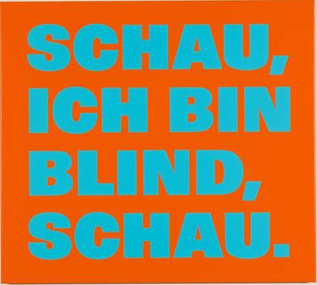 Das Werk von Rémy Zaugg aus dem Jahr 1998, das der Ausstellung im Kunstmuseum Basel den Titel gibt.