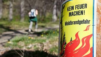 Das Amt für Wald beider Basel taxiert die Waldbrandgefahr als erheblich. (Symbolbild)