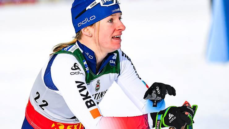 Nadine Fähndrich muss im Ziel die Niederlage akzeptieren. (Archivaufnahme)